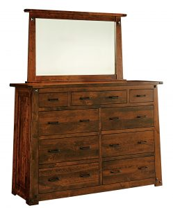 Amish Furniture Encada 9 Drawer Dresser